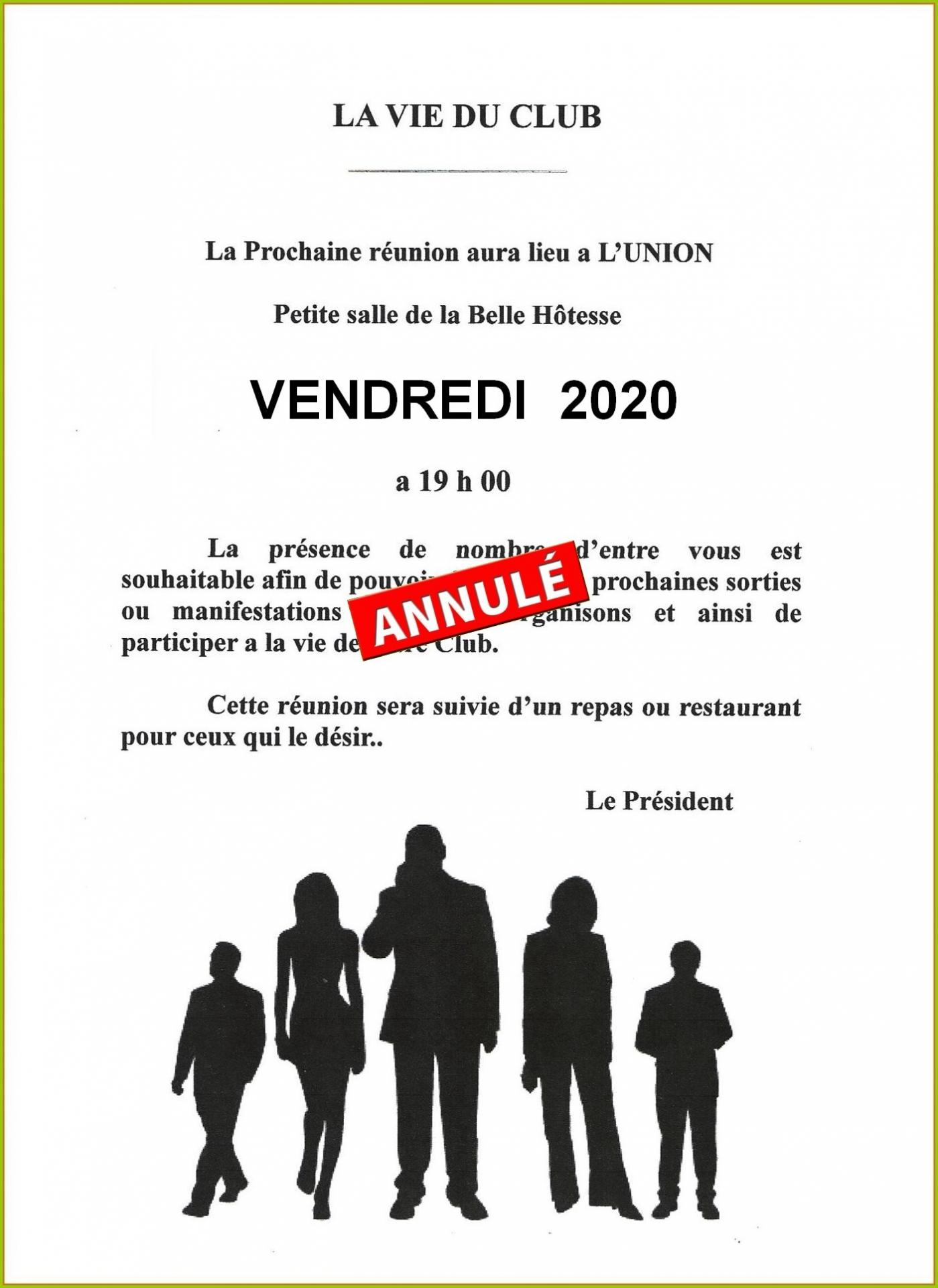 Reunion belle hotesse 2020